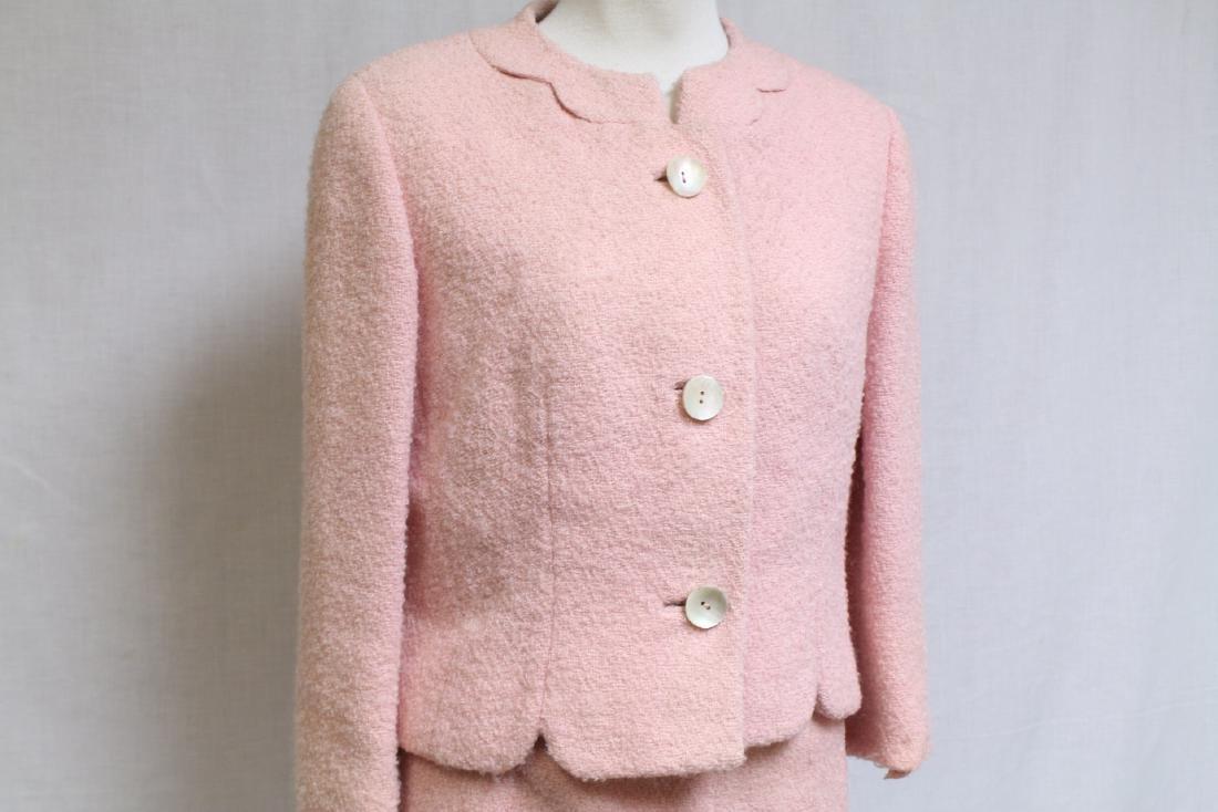 Vintage 1960s Pink Boucle Best & Co Suit - 2