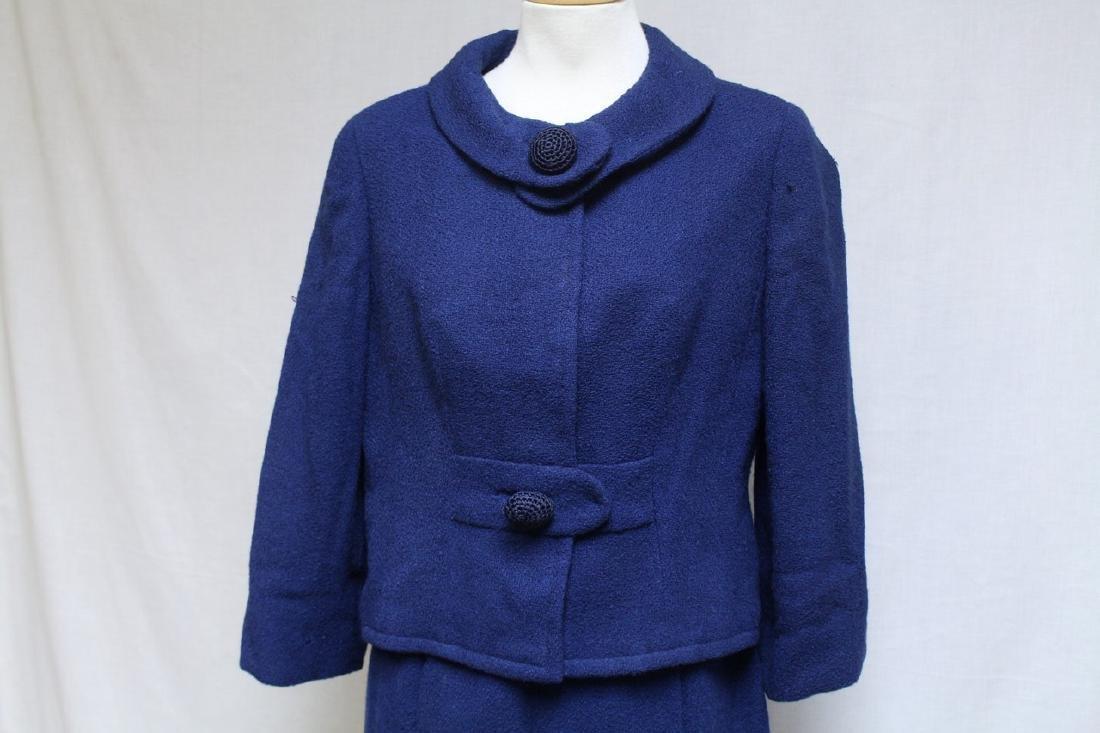 Vintage 1960s Paul Parnes Blue Wool Suit - 2