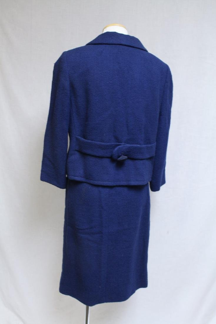 Vintage 1960s Paul Parnes Blue Wool Suit - 3
