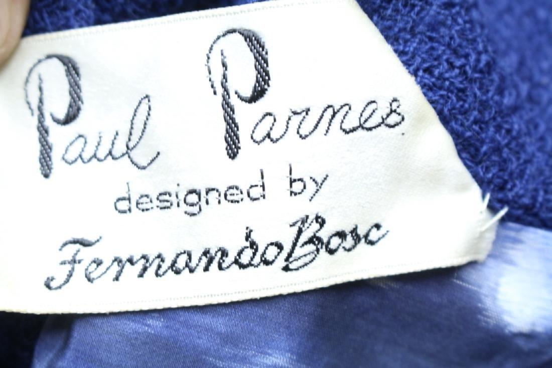 Vintage 1960s Paul Parnes Blue Wool Suit - 6
