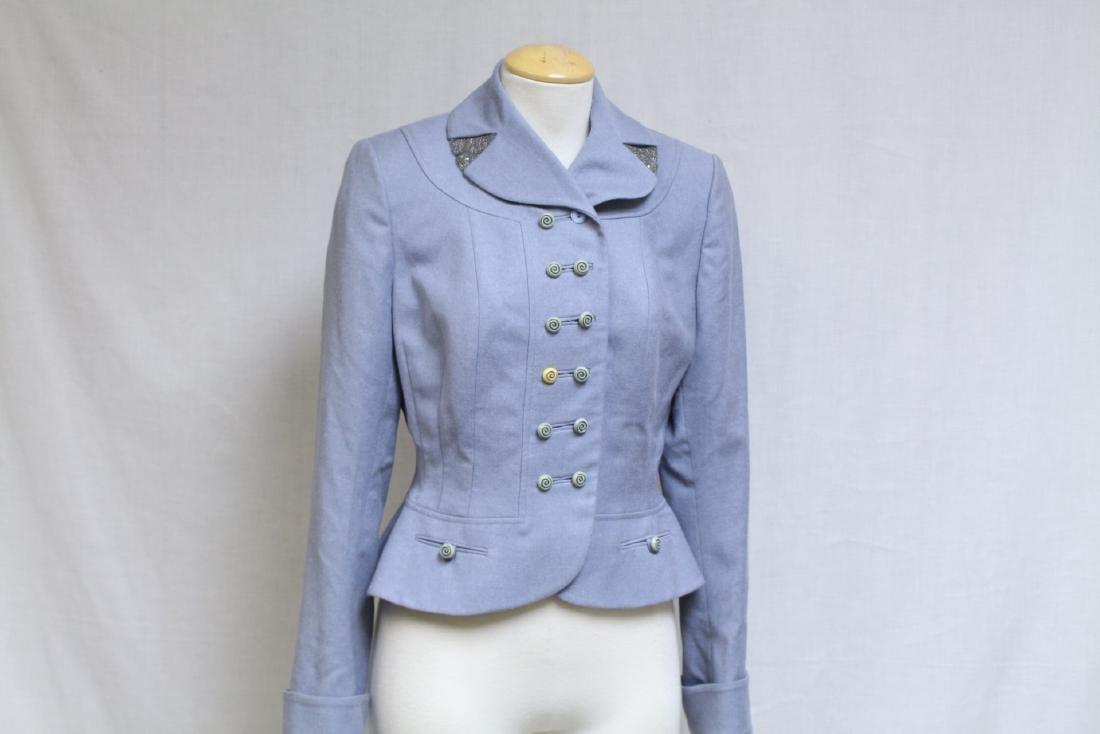 Vintage 1950s Light Blue Wool Jacket