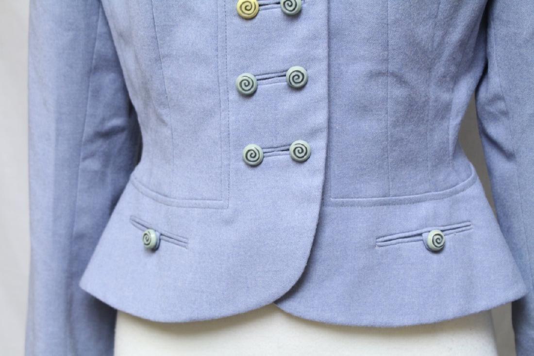 Vintage 1950s Light Blue Wool Jacket - 3