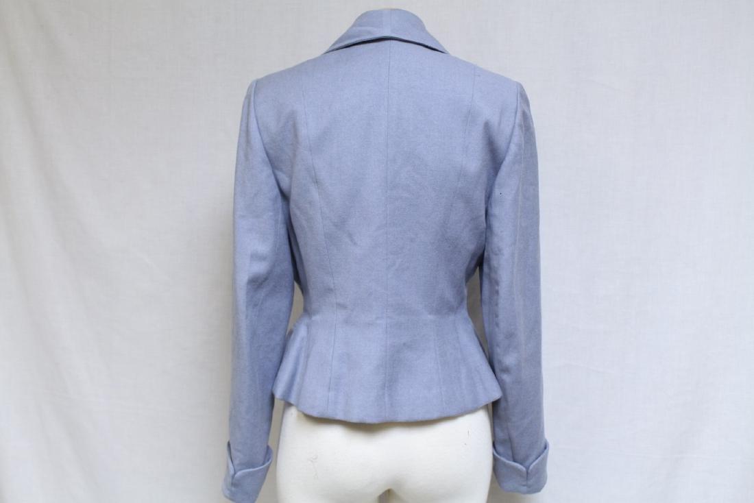Vintage 1950s Light Blue Wool Jacket - 4