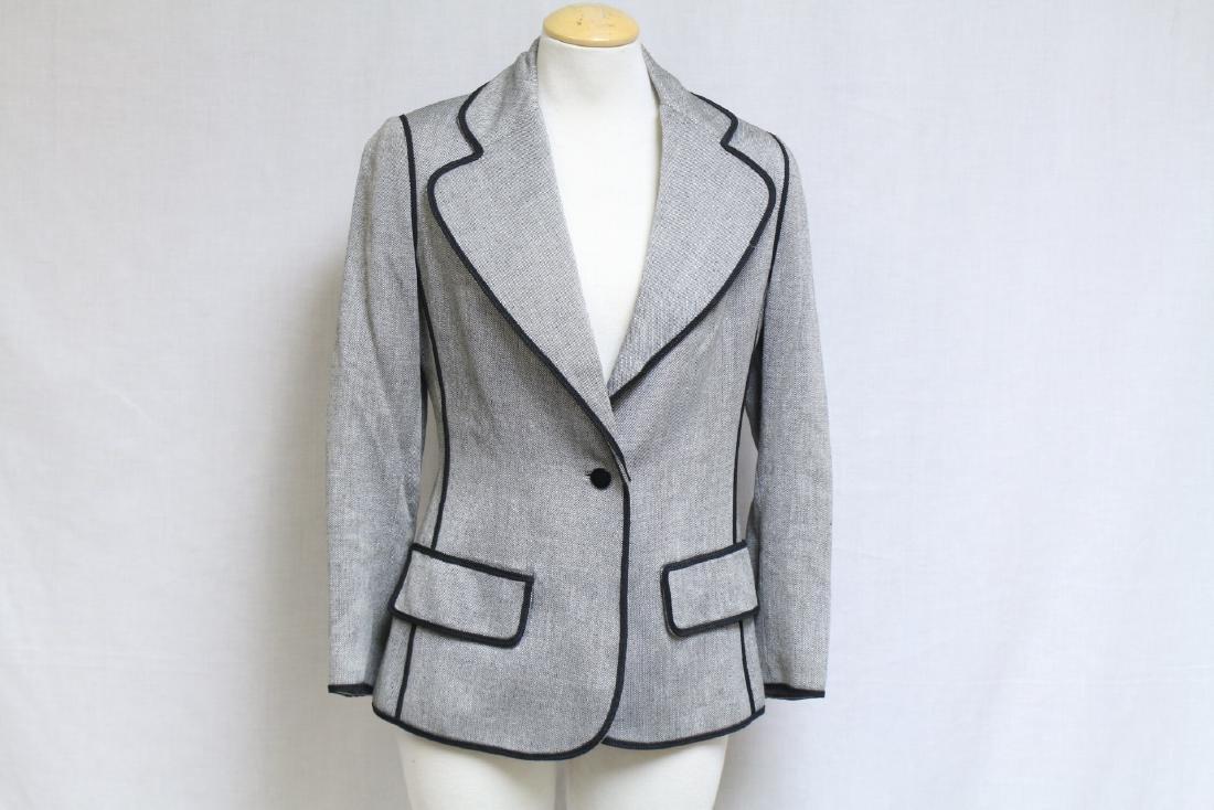 Vintage 1970's Black & Grey Blazer