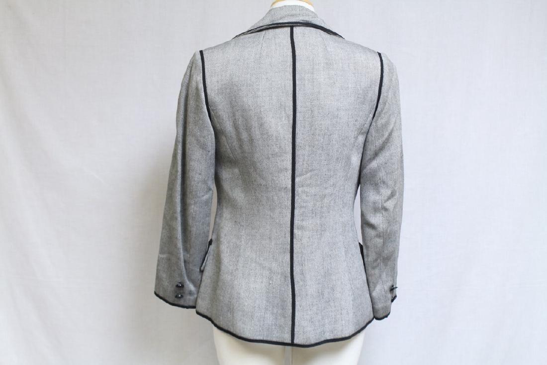 Vintage 1970's Black & Grey Blazer - 4