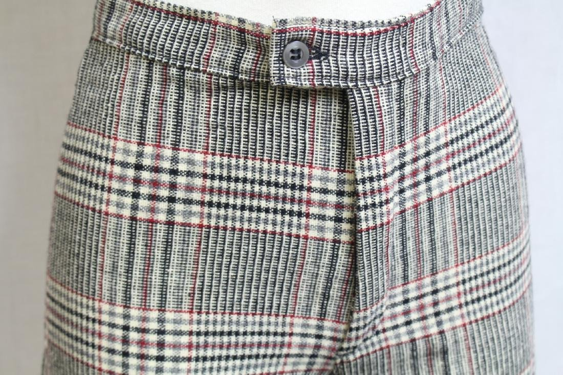 Vintage 1970s Plaid Wool Bell Bottoms - 2