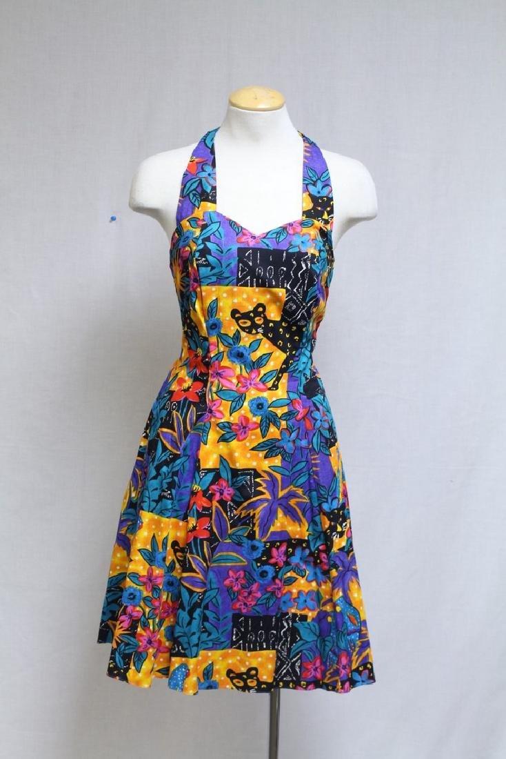Vintage 1990s Floral Halter Dress