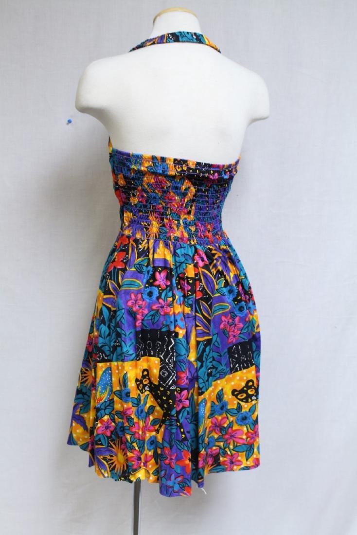 Vintage 1990s Floral Halter Dress - 3