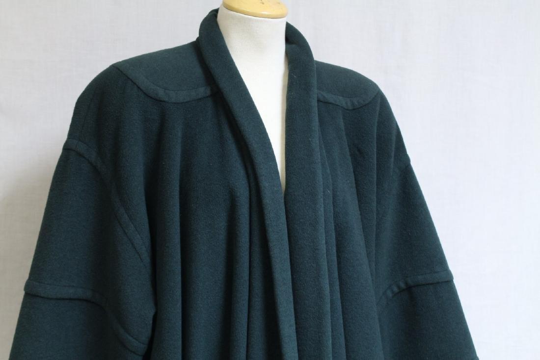 Vintage 1990s Green Wool Swing Coat - 2