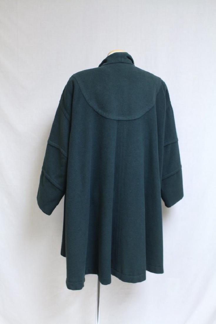 Vintage 1990s Green Wool Swing Coat - 3