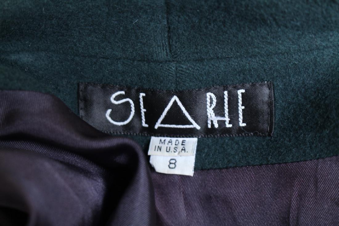 Vintage 1990s Green Wool Swing Coat - 4