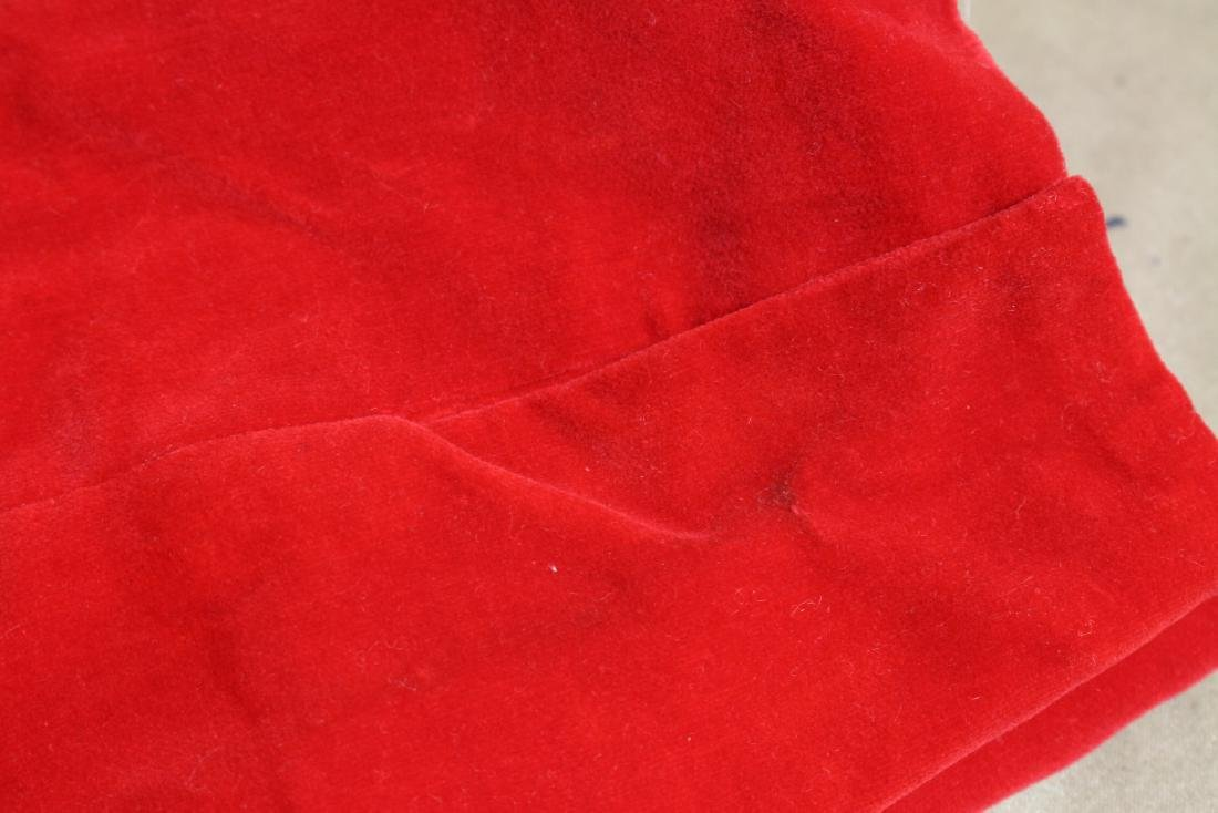 Vintage 1960s Red Velveteen Pants - 4
