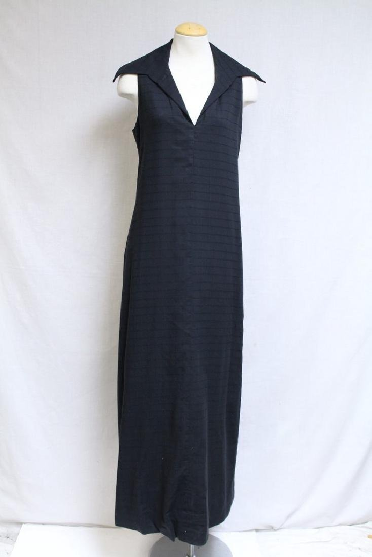 Vintage 1970s Black Maxi Dress