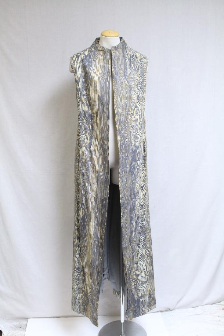 Vintage 1970s Wood Grain Print Duster Vest