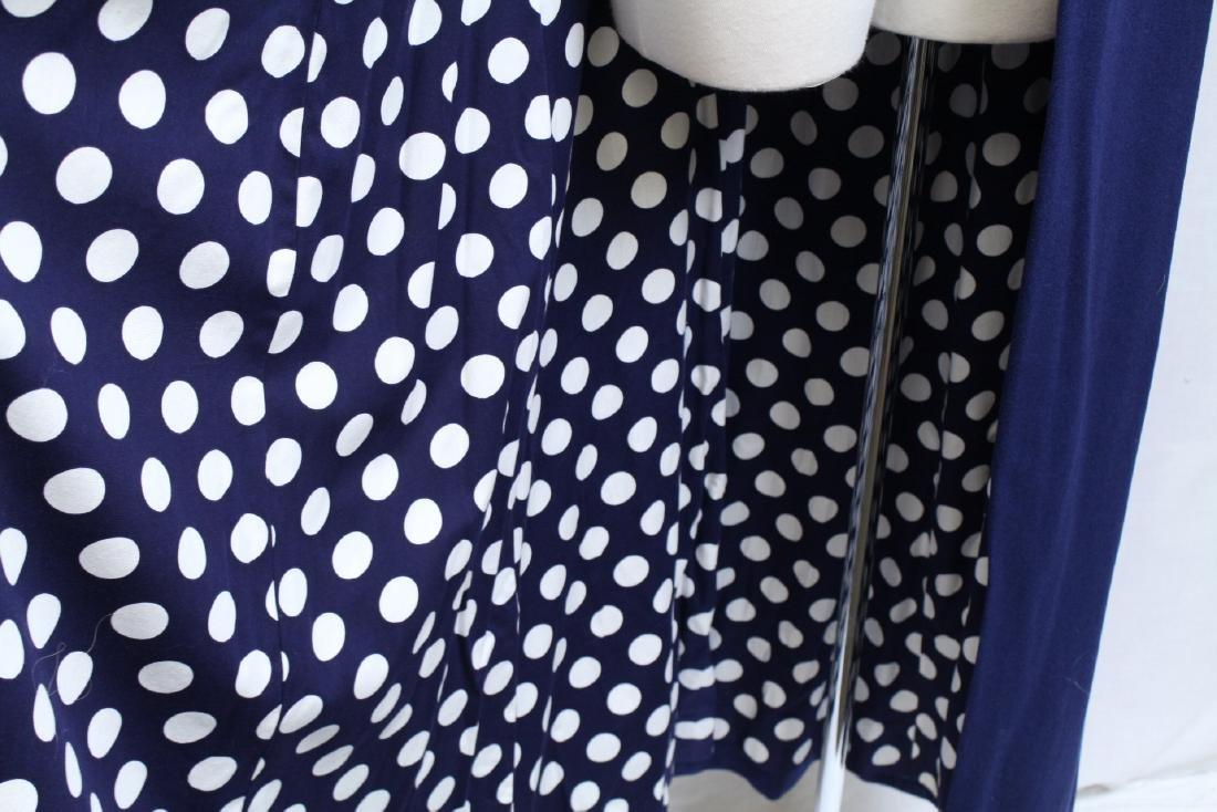 Vintage 1970s Navy Blue & Polka Dot Duster Vest - 3