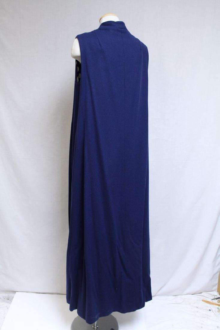 Vintage 1970s Navy Blue & Polka Dot Duster Vest - 4