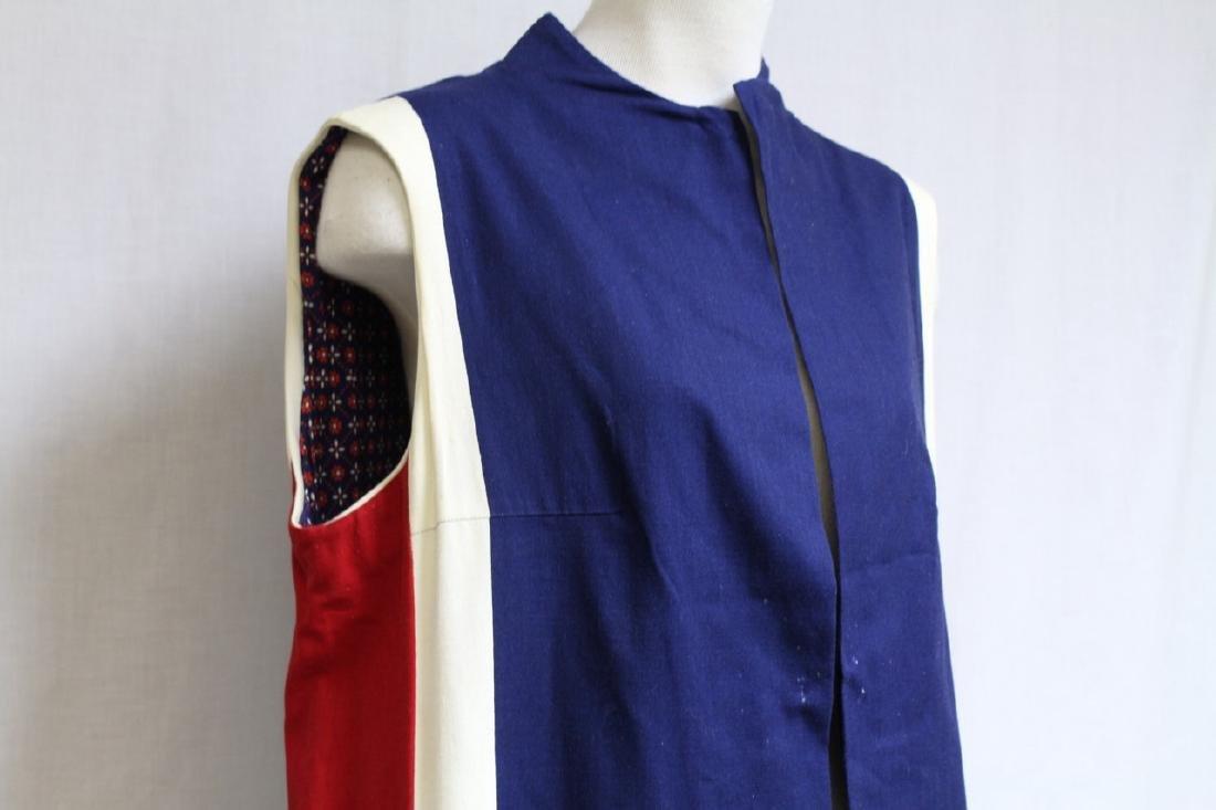 Vintage 1970's Red/White/Blue Duster Vest - 2