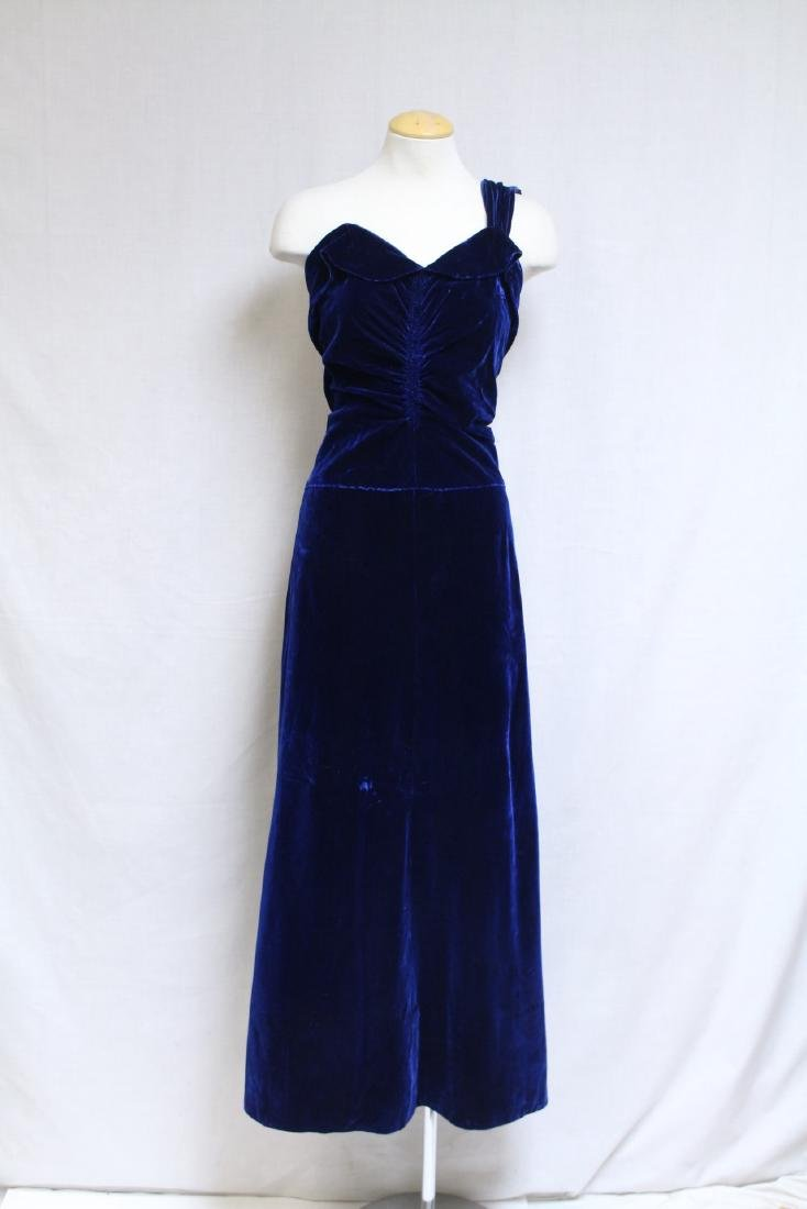 Vintage 1940s Saks Fifth Ave Velvet Gown