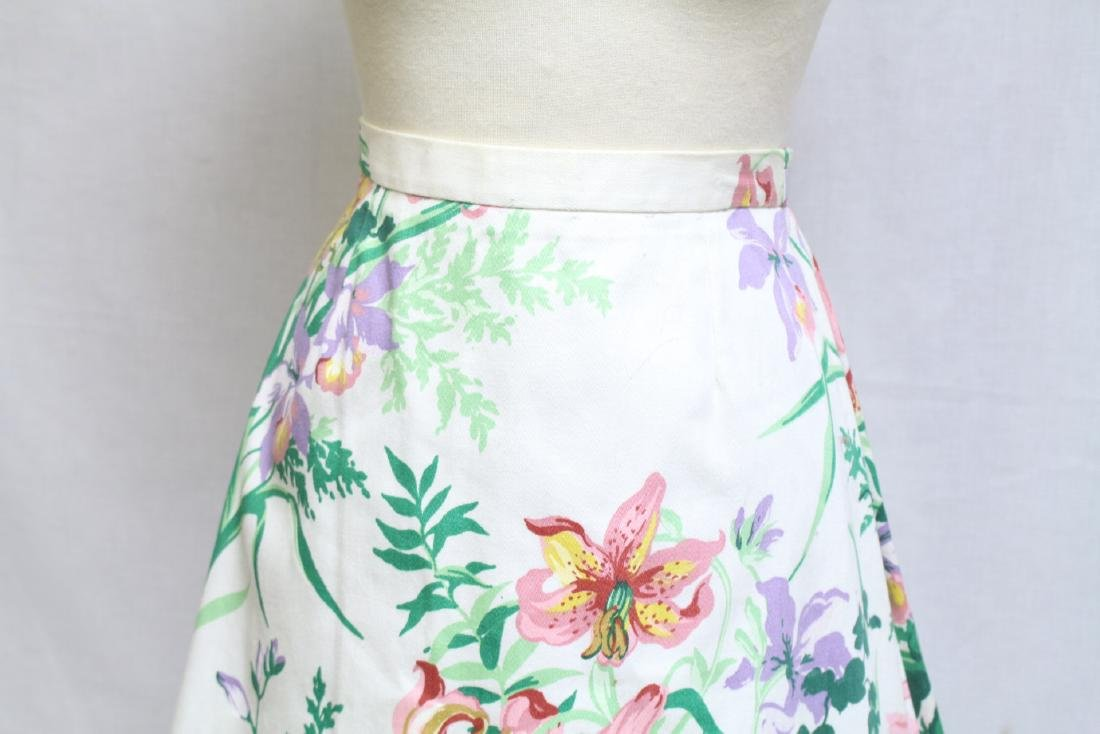 Vintage 1980s Margaret Smith Floral A-line Skirt - 2