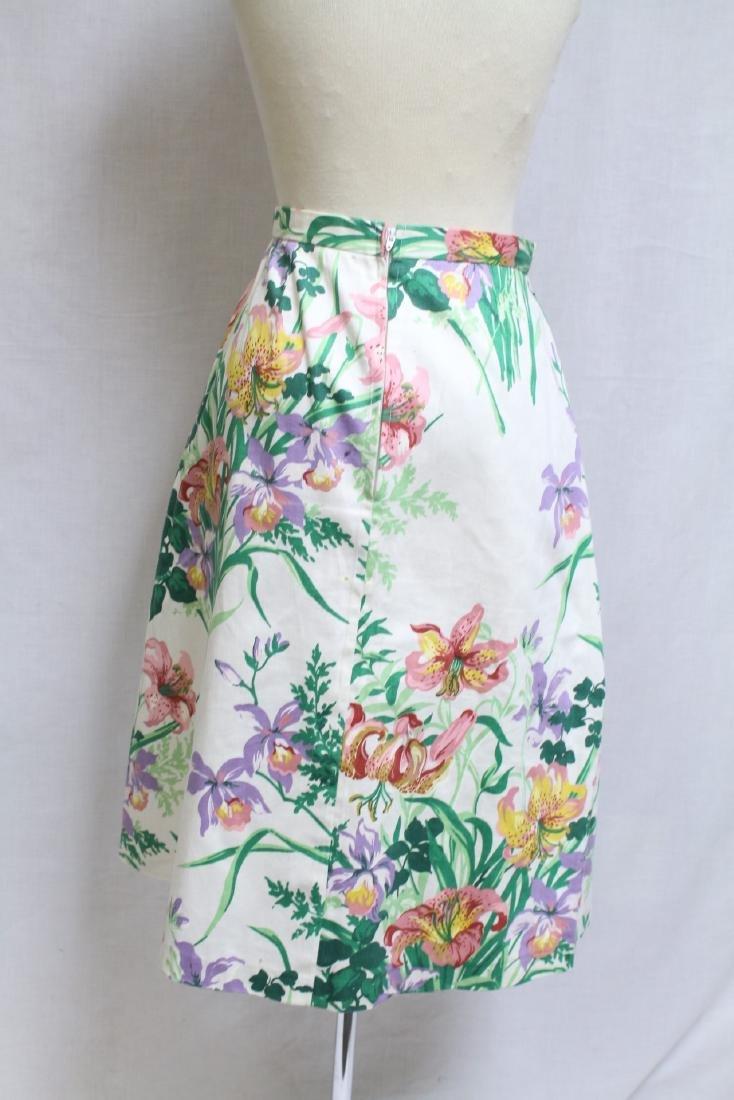 Vintage 1980s Margaret Smith Floral A-line Skirt - 3