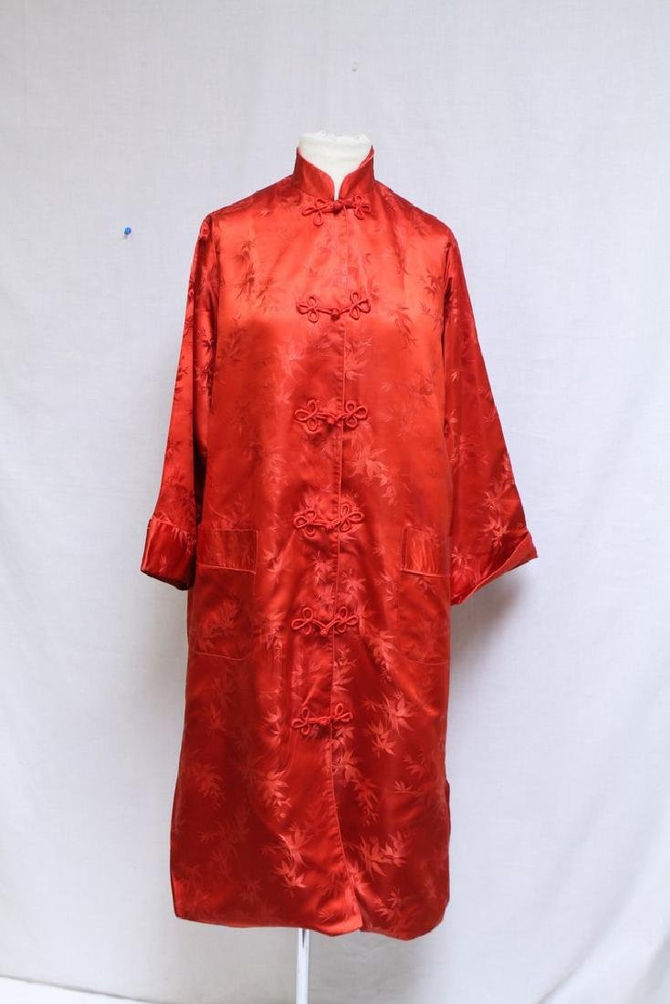 Vintage 1960s Red Satin Japanese Jacket