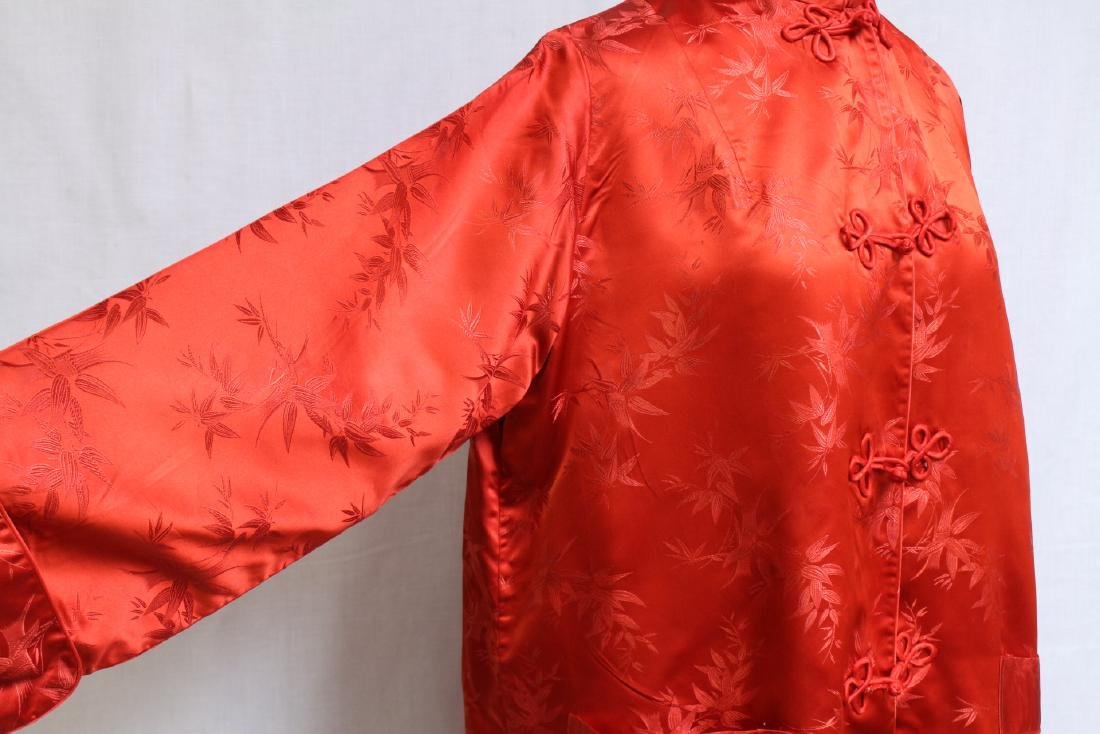 Vintage 1960s Red Satin Japanese Jacket - 2