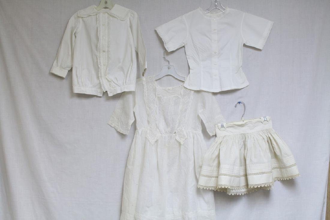 Antique Lot of 4 Girls Clothing