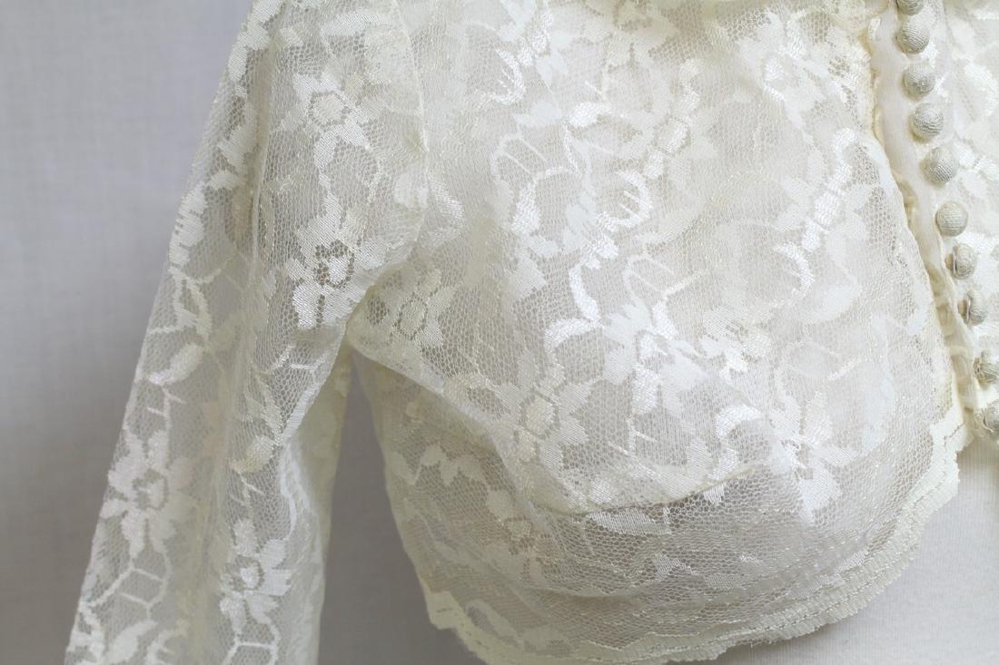 Vintage 1960s Lace Bolero - 2