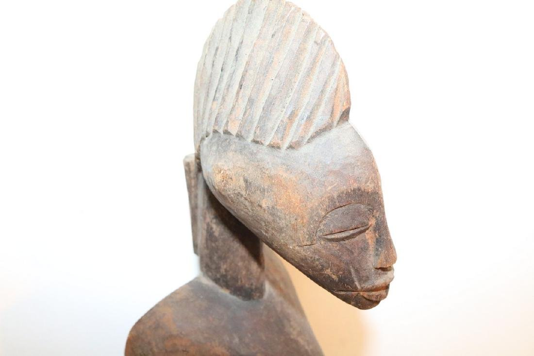 Hand Carved African Statue, seated Man - 4
