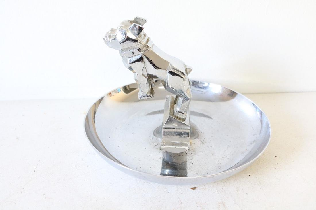 Vintage Bull Dog ash Tray in Chrome - 3