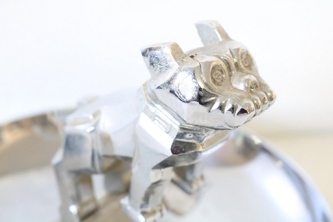 Vintage Bull Dog ash Tray in Chrome - 6