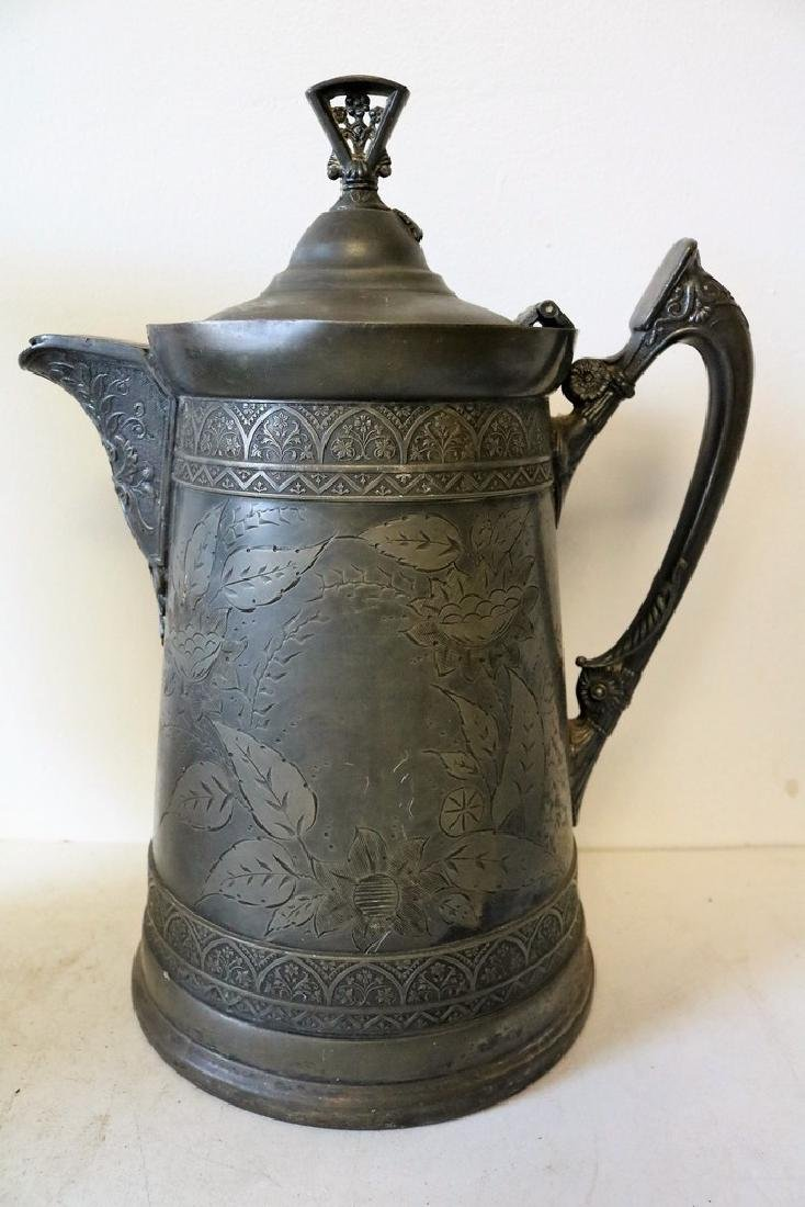 Antique Silver Plate Tankard