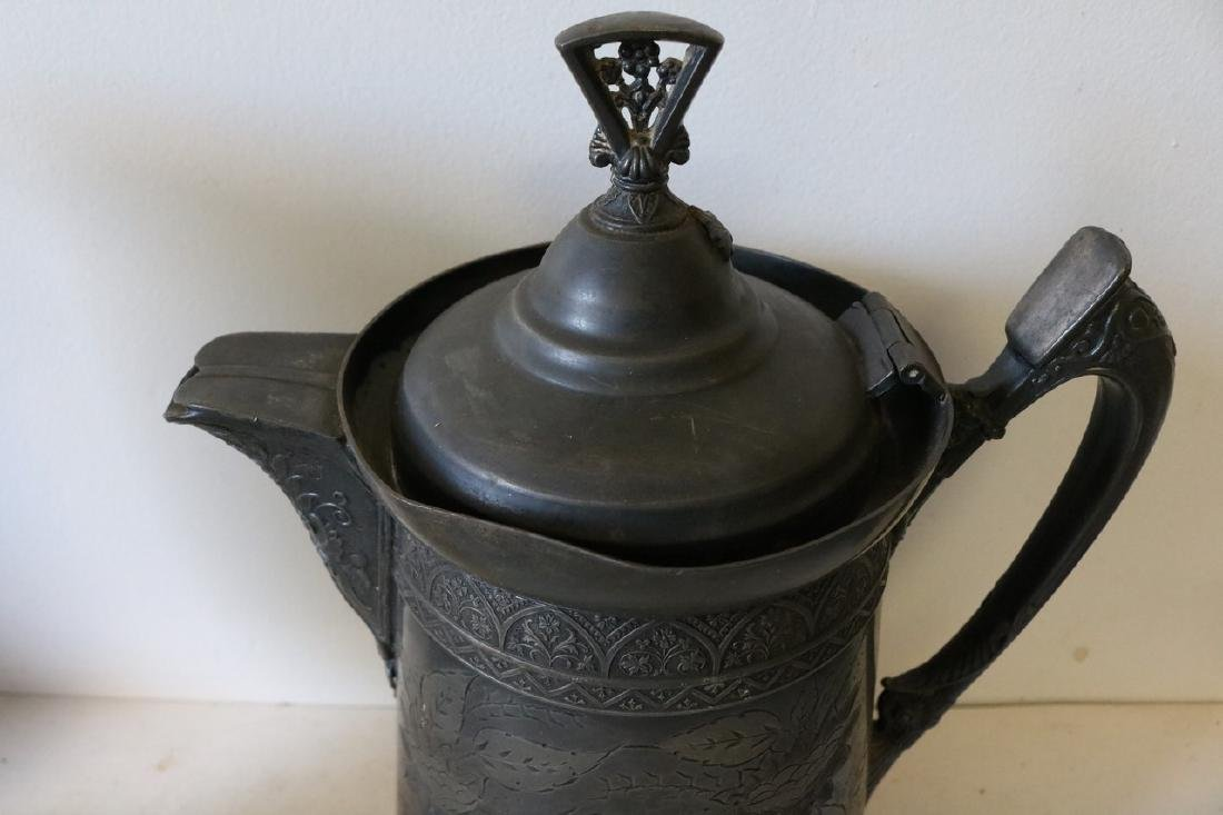 Antique Silver Plate Tankard - 2