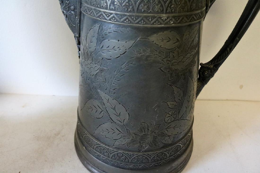 Antique Silver Plate Tankard - 3