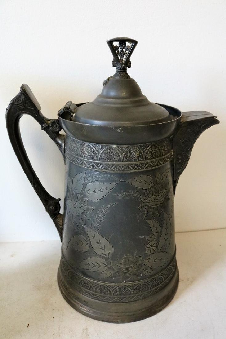 Antique Silver Plate Tankard - 5