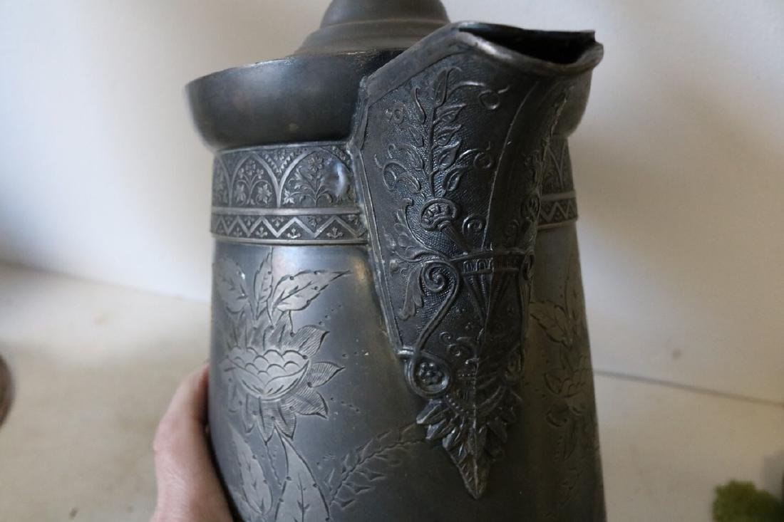 Antique Silver Plate Tankard - 6