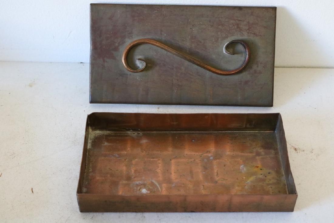 Vintage 1930's Gregorian Hammered Copper Box - 2