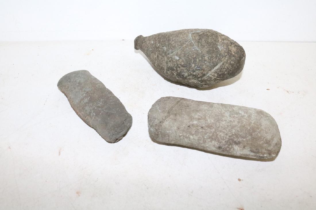 Lot of Three Antique Primitive Stone Tools