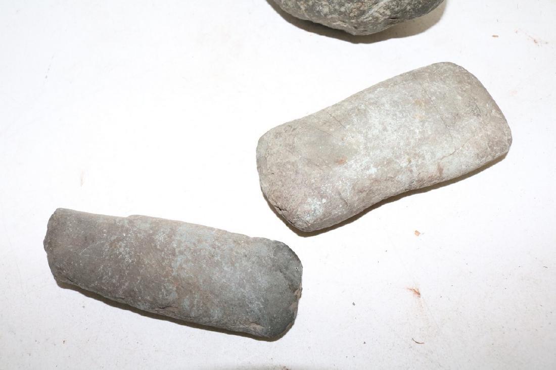 Lot of Three Antique Primitive Stone Tools - 2