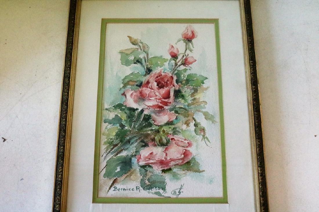 Vintage Floral Watercolor, Bernice R. Gibson