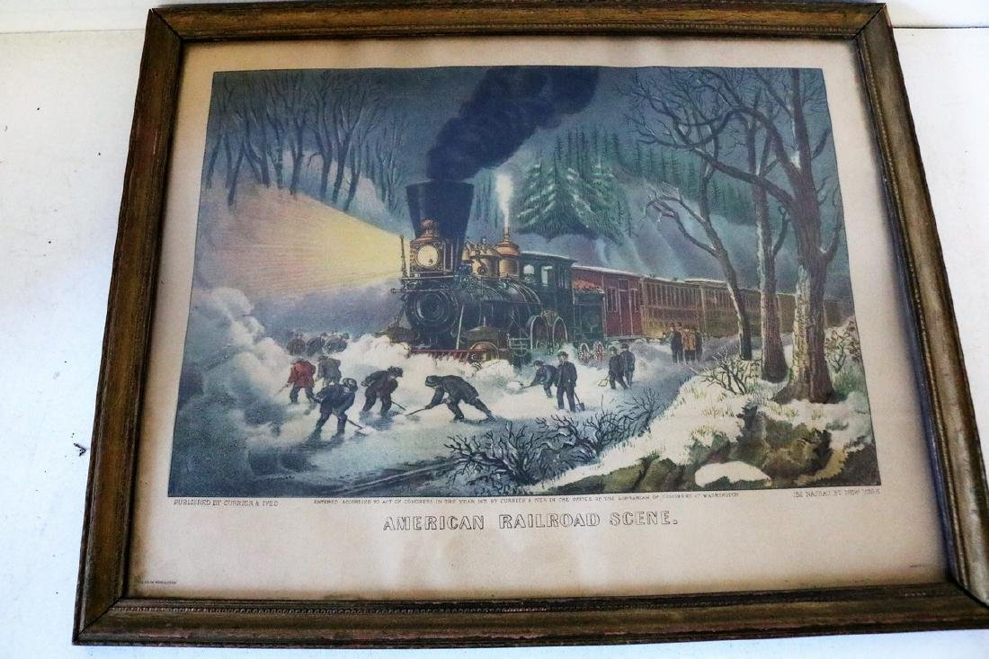 Currier & Ives, American RailRoad Scene