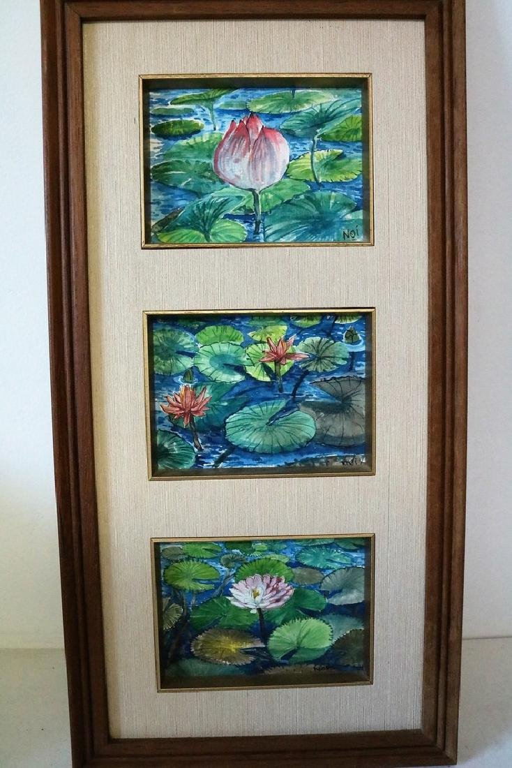 NOI, Water Color, Lilly Pads on Pond