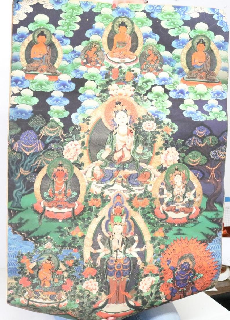 Hand Painted Vintage Thangka
