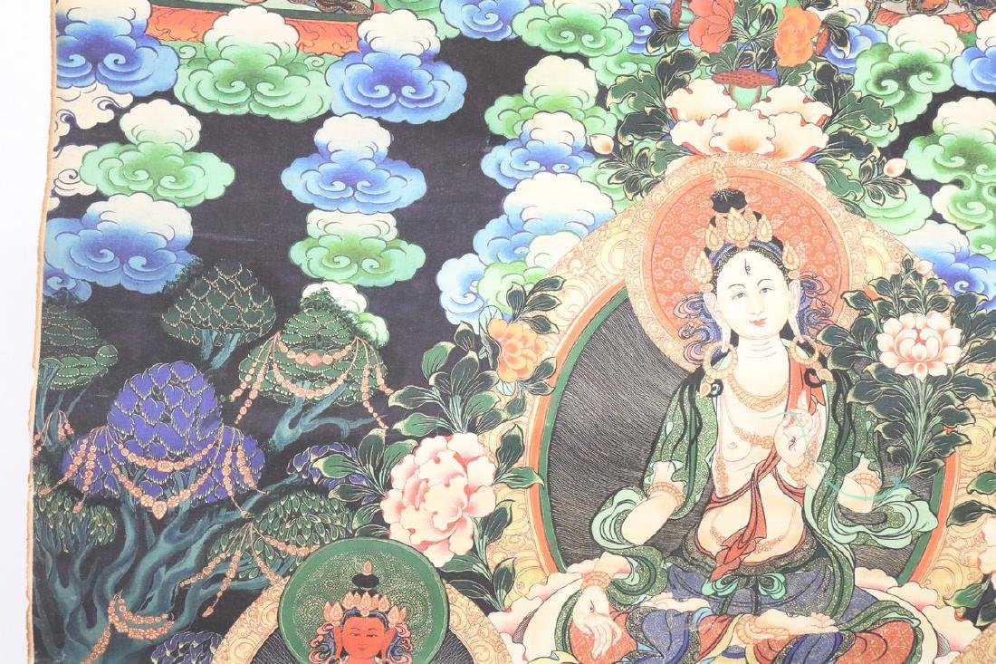 Hand Painted Vintage Thangka - 2