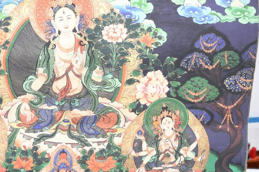 Hand Painted Vintage Thangka - 4