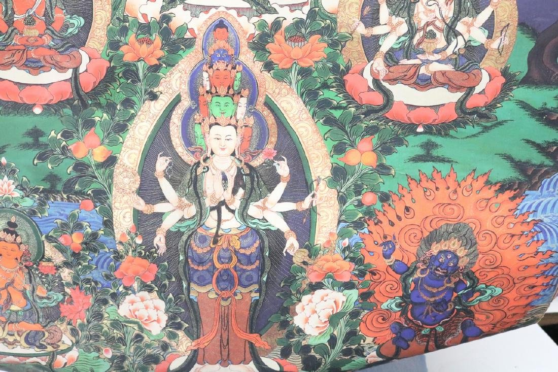 Hand Painted Vintage Thangka - 5