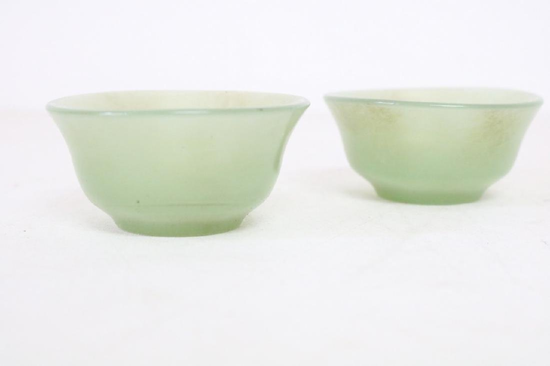 Vintage Asian Jade Stone Cups