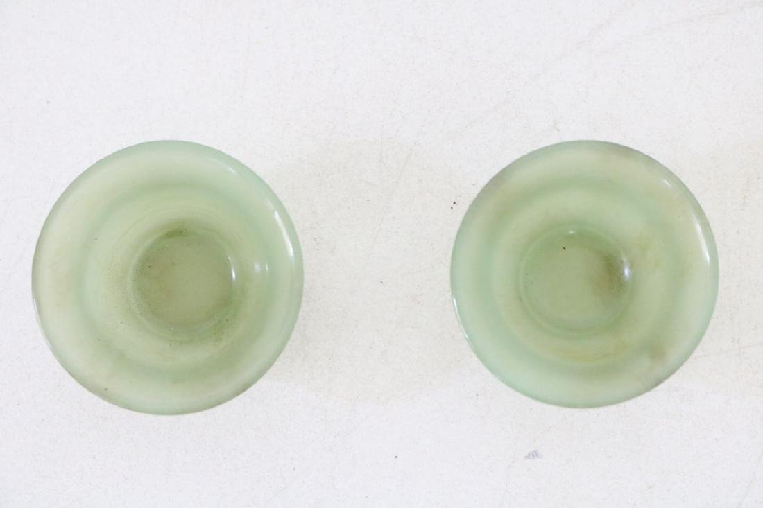 Vintage Asian Jade Stone Cups - 4