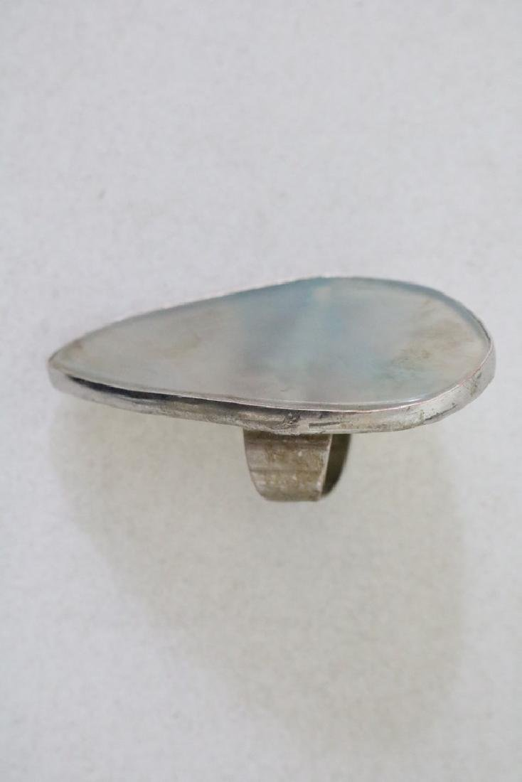 Vintage Asian Silver and Stone Ring