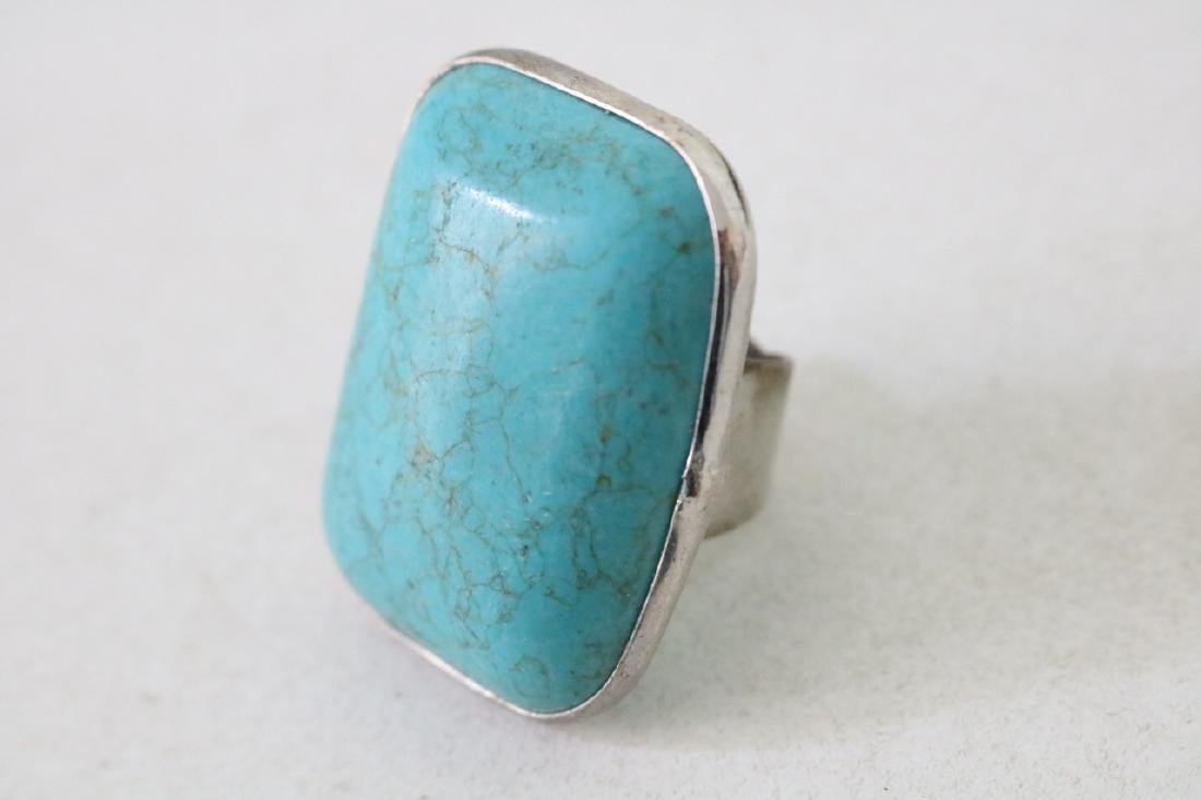 Vintage Asian Silver and Turquoise Ring